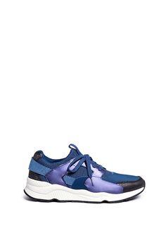 ASH 'Mike Bis' Metallic Neoprene Mesh Sneakers. #ash #shoes #sneakers