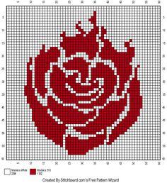 Ruby Rose RWBY cross stitch