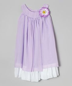 Look what I found on #zulily! Lavender & White Swing Dress - Infant, Toddler & Girls #zulilyfinds