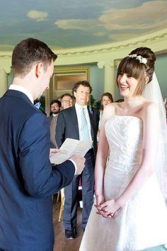 wedding ceremony at Basildon Park Berkshire