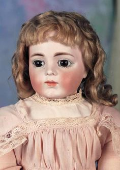 "Beautiful Sonneberg Bisque Doll Known as the ""Kuhnlenz Bru"""