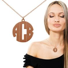 love the rose gold! #monogramnecklace #necklace