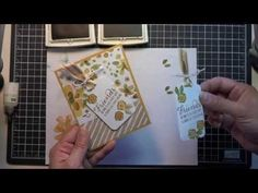▶ Stampin' Up! Garden in Bloom Tag Greeting Card - YouTube