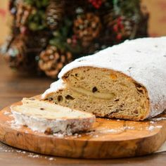 Stollen is a wonderful holiday bread filled with fruit, almonds, and marzipan.