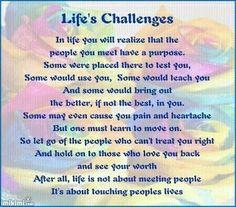 Lifes Challenges... gejane lougebhardt