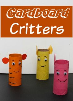 Need some rainy day fun? Craft a whole jungle with our cardboard critters craft for kids!