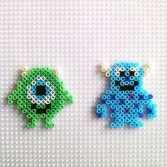 Mike and Sulley - Monsters, Inc. hama beads by hadavedre More