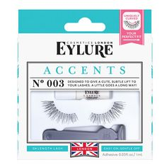 1c62045783a Designed to give a cute subtle lift to your lashes. Eylure's Accent No. 003