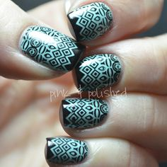 Pink & Polished: I cheated! The *almost* tribal nails...