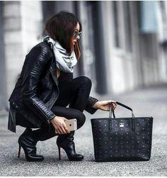 MCM Black Shopper