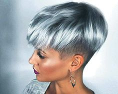 2017 Autumn 2018 Winter hairstyles 8 - All For Hair Color Trending Funky Hairstyles, Winter Hairstyles, Fashion Hairstyles, Short Hair Cuts, Short Hair Styles, Silver Blonde, Grey Blonde, Corte Y Color, Haircut And Color