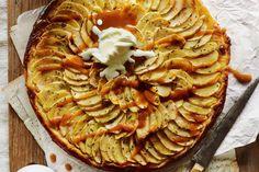 Apple frangipane tart with salted caramel sauce - Recipes - delicious.com.au