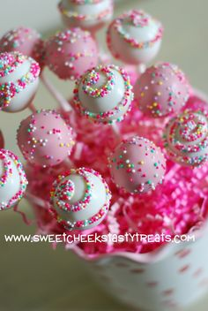Sweet Cheeks Tasty Treats: Swirl Cake Pops