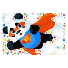 Wall decal »Super Panda«  - Products - #Decal #Panda #Products #Super #Wall Original Tattoos, Girl Tattoos, Wall Decals, Minnie Mouse, Disney Characters, Fictional Characters, Super, Fun, Products
