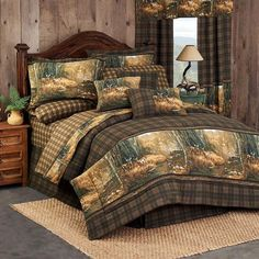 6 Piece Bed In A Bag Cabin Fishing Hunting Lake House Duck Twin Comforter Set
