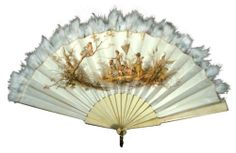 1870 Fan Culture: European Medium: cloth, feather, metal, bone