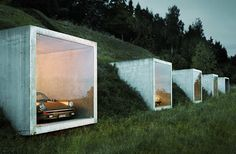 If Donald Judd were to have built a garage with Dan Flavin, it might have looked like this. By Kunz Architektur, Herdern