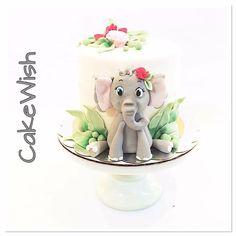 Elephant Cakes, Happy Birthday, Birthday Cake, Little Elephant, Pretty Cakes, Panna Cotta, Children Cake, Jar, Ethnic Recipes