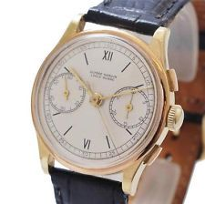 ORIGINAL ULYSSE NARDIN RARE CHRONOGRAPH SOLID 18K YELLOW GOLD VINTAGE MENS WATCH