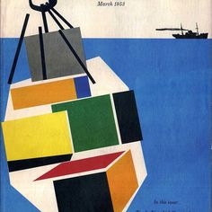 englishmodernism: Giovanni Pintori. Fortune Magazine cover from the italian graphic designer who did much to establish Olivetti as a leading patron of design. #italiandesign #giovannipintori #design #modernism #illustration #olivetti #midcenturymodern #fortunemagazine #pattern