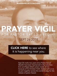 Prayer Vigil September 26, 2014 #savesaeed