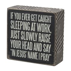 Caught Sleeping Box Sign | Top Farewell Gift Ideas for Coworker
