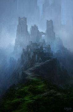 Citadel by Andreas Rocha (Fantasy Art Watch)