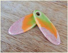 """Set de ceramica """"Rosa-Verde-naranja """" de MAJOYOAL por DaWanda.com"""