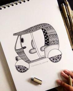 Mandala Art Therapy, Mandala Art Lesson, Mandala Artwork, Mandala Drawing, Cute Doodle Art, Doodle Art Designs, Art Drawings Beautiful, Art Drawings Sketches Simple, Mini Drawings