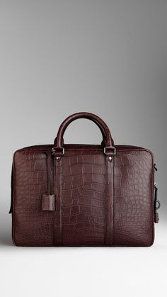 Attaché-case en alligator noirci | Burberry