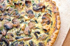 Vegetarian: Healthy Mushroom and Shallot Quiche