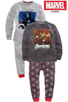 Buy Two Pack Drop Crotch Avengers Pyjamas (3-12yrs) from the Next UK online shop