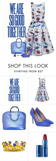 """""""OCP"""" by molly2222 ❤ liked on Polyvore featuring Chi Chi, Louis Vuitton, Gucci, Diane Griswold Johnston, Lipstick Queen and louisvuittonbag"""