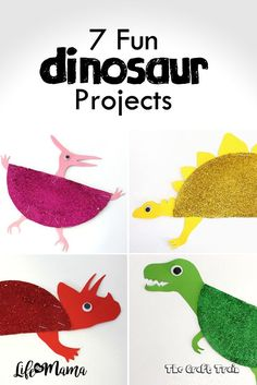 If youve got some prehistoric creature lovers living under your roof, youve got to check these dinosaur projects out! They are all so easy, and so fun.