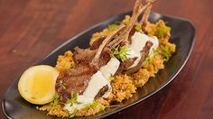Grilled Lamb Cutlets with Spiced Couscous and Rose Water Yoghurt