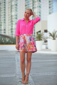 Weather Appropriate ( Floral Skirts & Sandals ) with Helena Glazer