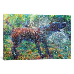 """Latitude Run Canis Major Painting Print on Wrapped Canvas Size: 26"""" H x 40"""" W x 1.5"""" D"""
