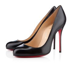 Fifi 100 Black Leather - Women Shoes - Christian Louboutin