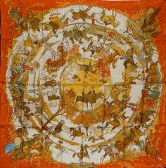 Hermes Festival Des Amazones Silk Twill Scarf 90 | J\u0026#39;? Mon Carre ...