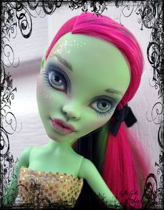 Venus McFlytrap Monster High OOAK repainted by Gilly Gals by GillyGals on Etsy