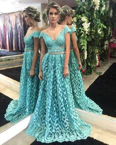 70 modelos de vestidos longos de renda lindos para festa, formatura, madrinhas e muito mais. São fotos de vestido de renda exclusivos e inspiradores. #partydresses
