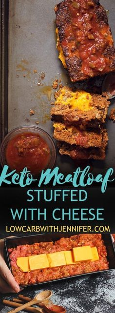 Flavorful chorizo mixed with ground beef makes this cheese stuffed keto meatloaf taste amazing! A perfect low carb dinner recipe!