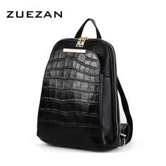 Cheap leather women backpack, Buy Quality fashion women backpack directly from China women backpack Suppliers: ZENCY 2017 Natural Real Genuine Cow Leather Women Backpack Ladies Girls Top Layer Cowhide Book Bags Mochila Female Fashion Brand Cow Leather, Leather Handle, Real Leather, School Bags For Girls, Girls Bags, Backpack Bags, Fashion Backpack, Backpack Straps, Designer Backpacks