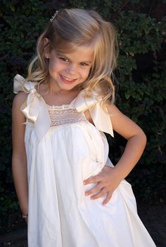 flower girl dresses, and a great idea for sun dresses at any age.