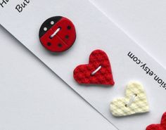 Polymer Clay Buttons/ Ladybird Button / Red and by wildexpression, €3.00