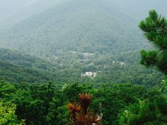 View of Montreat from the top of Lookout Mt
