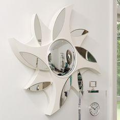 Pinwheel Mirror-Ivory by Global Views Sunburst Mirror, Diy Mirror, Beveled Mirror, Wall Mirrors, Dressing Table Design, Custom Window Treatments, Girl Decor, Home Decor Furniture, Wall Design