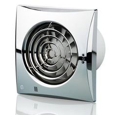 Airflow Icon 15 Extractor Fan With Polished Chrome Cover