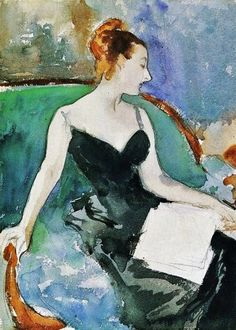 Madame Gautreau.  John Singer Sargent.  It's About Time: Beautiful Blues & Greens of John Singer Sargent 1856-1925.