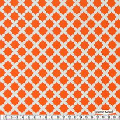 Michael Miller Fabric Beatrice Weave in Tangerine